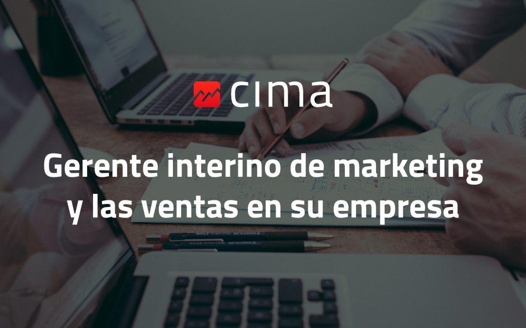 Gerente interino de marketing y las ventas en su empresa